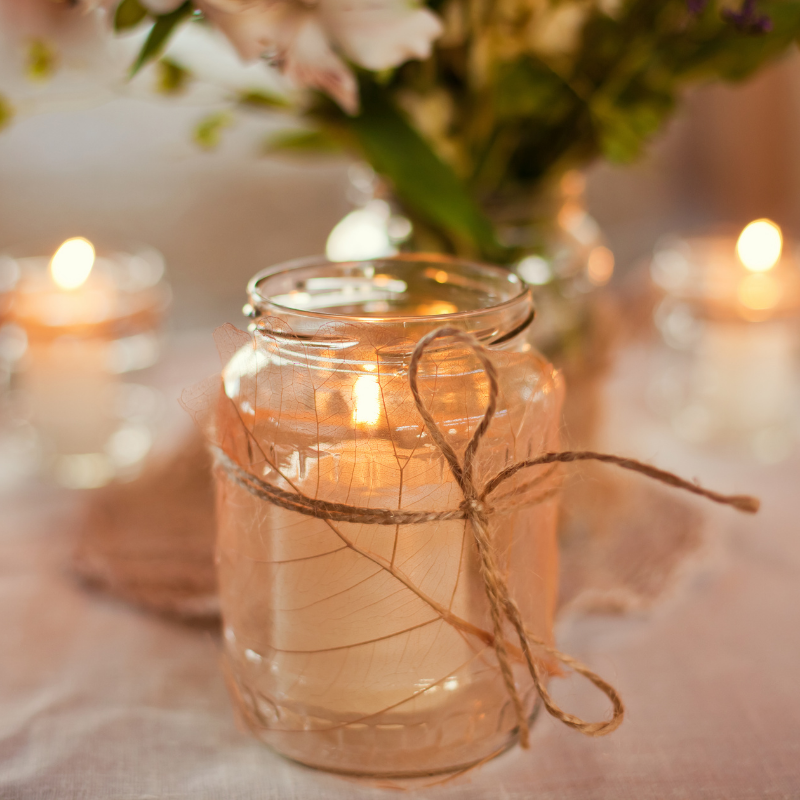 A Secret to a Peaceful Night – DIY Bedroom Candle